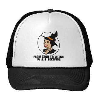 Zero to Witch 50 s Style Color Trucker Hat