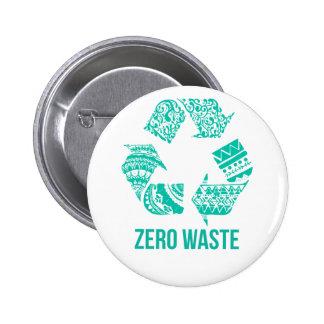 Zero Waste 6 Cm Round Badge