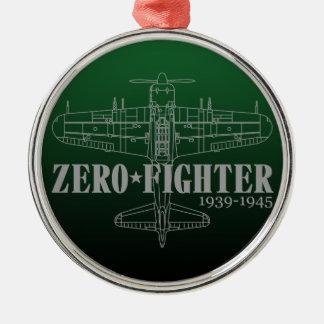 ZEROFIGHTER3 Silver-Colored ROUND DECORATION