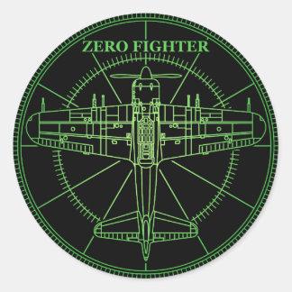 ZEROFIGHTER RADER ROUND STICKER