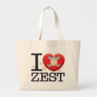 Zest Love Man Large Tote Bag