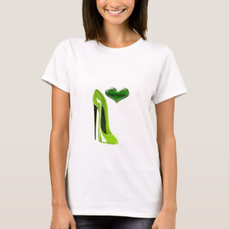 Zesty Lime Green Stiletto Shoe and 3D Heart T-Shirt