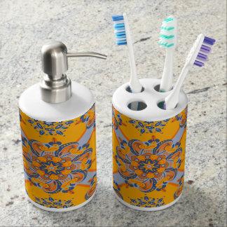 Zesty Mandala Toothbrush Holder and Soap Dispenser
