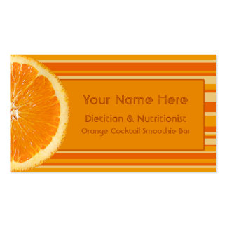 Zesty Orange and Tropical Citrus Stripes Pack Of Standard Business Cards