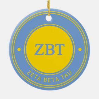Zeta Beta Tau | Badge Christmas Ornament