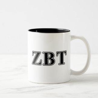 Zeta Beta Tau Black Letters Two-Tone Coffee Mug
