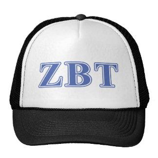 Zeta Beta Tau Blue Letters Cap