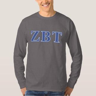 Zeta Beta Tau Blue Letters T-Shirt