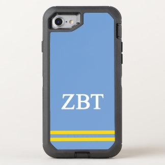 Zeta Beta Tau | Sport Stripe OtterBox Defender iPhone 8/7 Case