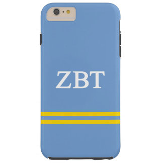 Zeta Beta Tau   Sport Stripe Tough iPhone 6 Plus Case