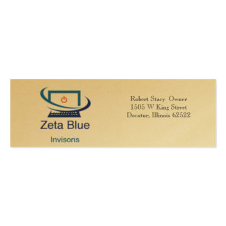 Zeta Blue Invisions Business Card Template