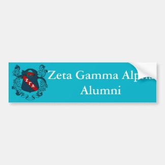 Zeta Gamma Alpha Alumni Bumper Sticker