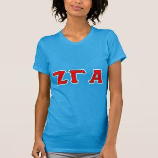 Zeta Gamma Alpha Sorority Letter T Shirt