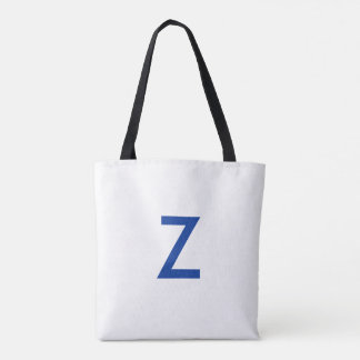 "Zeta Phi Beta - White tote, Royal Blue ""Z, 1920"" Tote Bag"