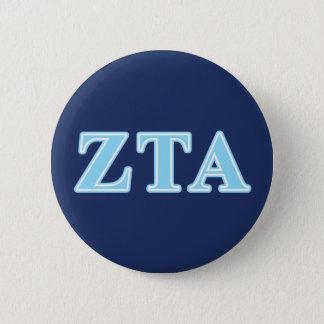 Zeta Tau Alpha Baby Blue Letters 6 Cm Round Badge