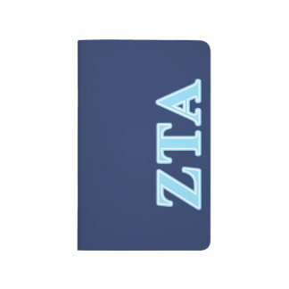 Zeta Tau Alpha Baby Blue Letters Journal