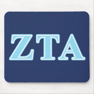 Zeta Tau Alpha Baby Blue Letters Mouse Mat