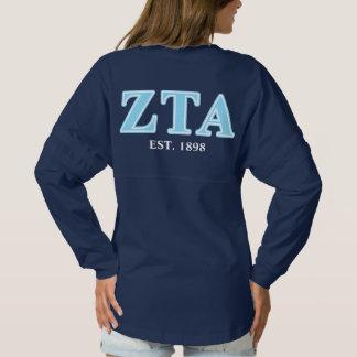 Zeta Tau Alpha Baby Blue Letters Spirit Jersey