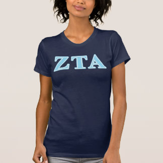 Zeta Tau Alpha Baby Blue Letters T-Shirt