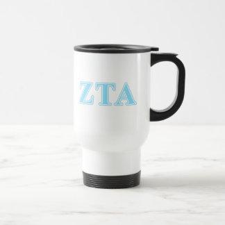 Zeta Tau Alpha Baby Blue Letters Travel Mug