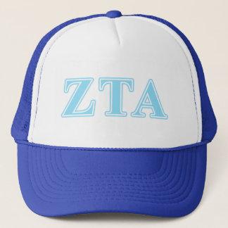 Zeta Tau Alpha Baby Blue Letters Trucker Hat