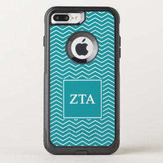 Zeta Tau Alpha   Chevron Pattern OtterBox Commuter iPhone 8 Plus/7 Plus Case