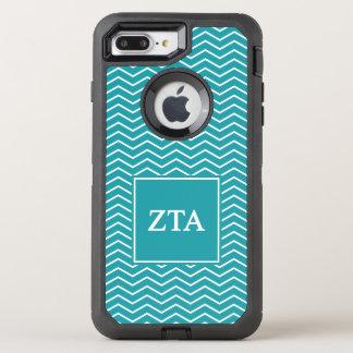 Zeta Tau Alpha   Chevron Pattern OtterBox Defender iPhone 8 Plus/7 Plus Case