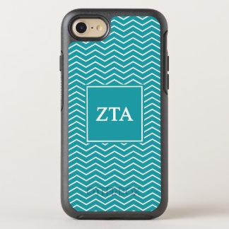 Zeta Tau Alpha   Chevron Pattern OtterBox Symmetry iPhone 8/7 Case