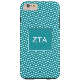 Zeta Tau Alpha   Chevron Pattern Tough iPhone 6 Plus Case