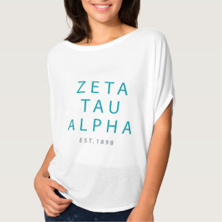 Zeta Tau Alpha Modern Type T-Shirt