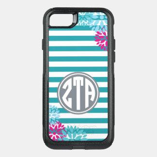 Zeta Tau Alpha   Monogram Stripe Pattern OtterBox Commuter iPhone 8/7 Case