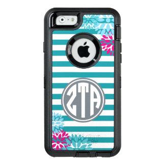 Zeta Tau Alpha   Monogram Stripe Pattern OtterBox iPhone 6/6s Case