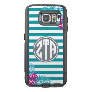 Zeta Tau Alpha   Monogram Stripe Pattern OtterBox Samsung Galaxy S6 Case