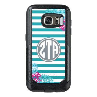 Zeta Tau Alpha | Monogram Stripe Pattern OtterBox Samsung Galaxy S7 Case