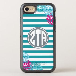 Zeta Tau Alpha   Monogram Stripe Pattern OtterBox Symmetry iPhone 8/7 Case