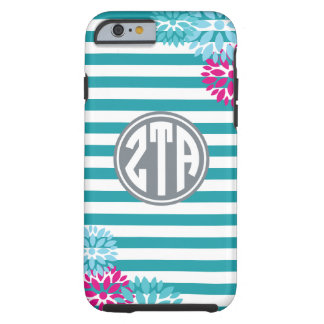 Zeta Tau Alpha   Monogram Stripe Pattern Tough iPhone 6 Case