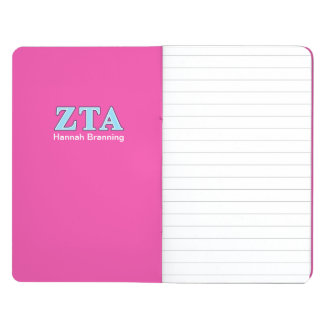 Zeta Tau Alpha Navy Blue and Baby Blue Letters Journal