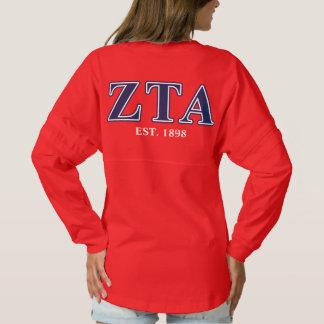 Zeta Tau Alpha Navy Letters Spirit Jersey