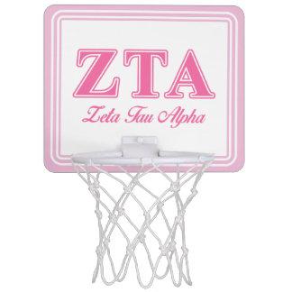 Zeta Tau Alpha Pink Letters Mini Basketball Hoop