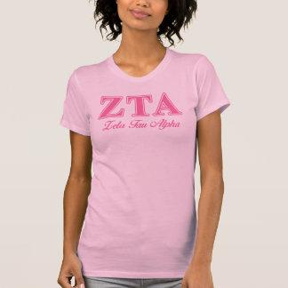 Zeta Tau Alpha Pink Letters T-Shirt