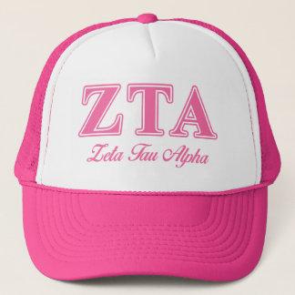 Zeta Tau Alpha Pink Letters Trucker Hat
