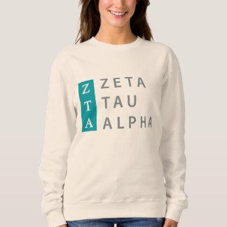 Zeta Tau Alpha Stacked Sweatshirt