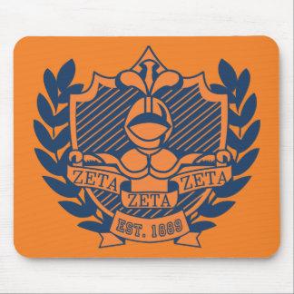 Zeta Zeta Zeta Fraternity Crest - Navy/Orange Mouse Mat
