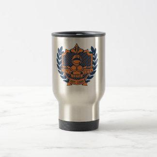 Zeta Zeta Zeta Fraternity Crest - Navy/Orange Travel Mug