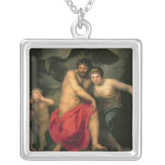 Zeus and Hera on Mount Ida, 1775 Silver Plated Necklace