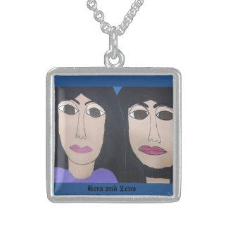 Zeus and Hera Square Necklace