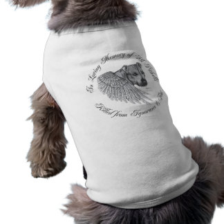 Zeus angel sleeveless dog shirt