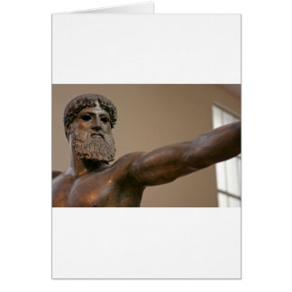 Zeus bronze statue in Athens Greece Card