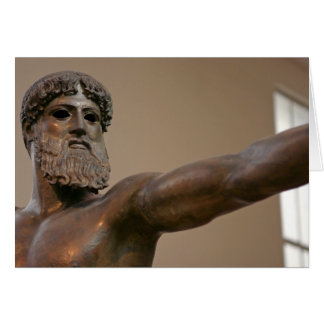 Zeus bronze statue in Athens Greece Greeting Card