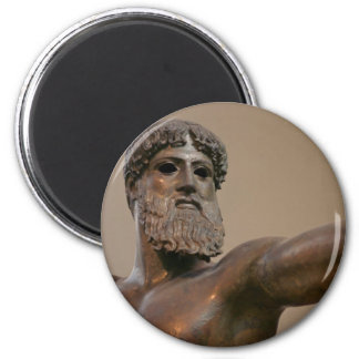 Zeus bronze statue in Athens Greece Refrigerator Magnets